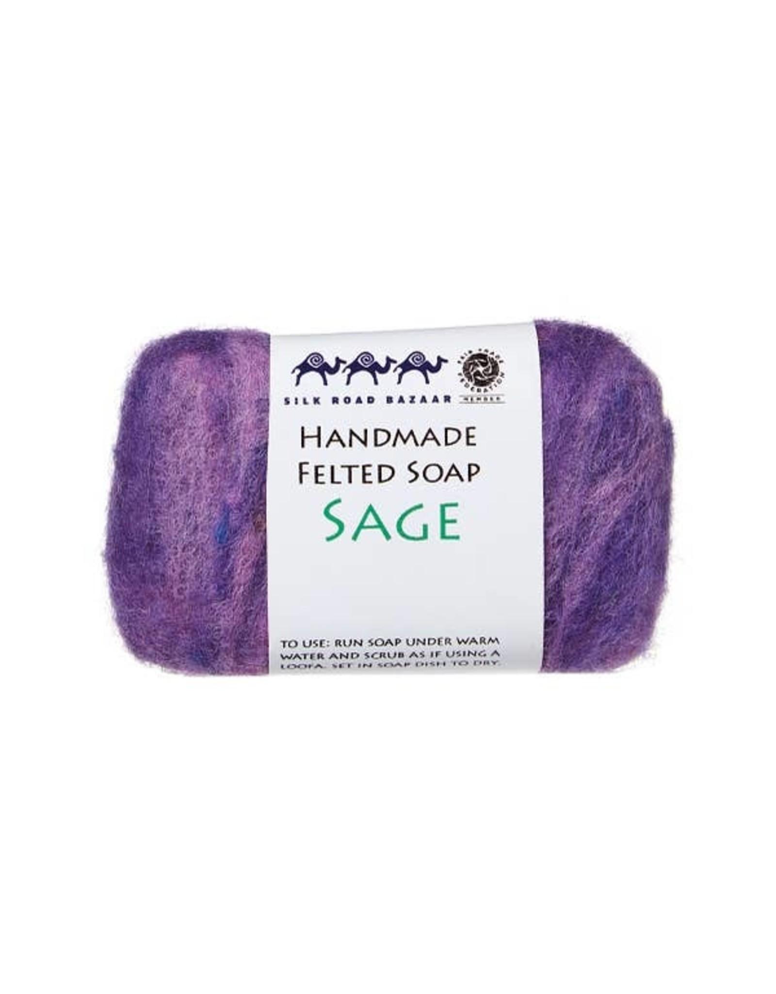 Silk Road Bazaar Sage Handmade Felted Soap