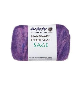 Silk Road Bazaar Sage Handmade Felted Soap
