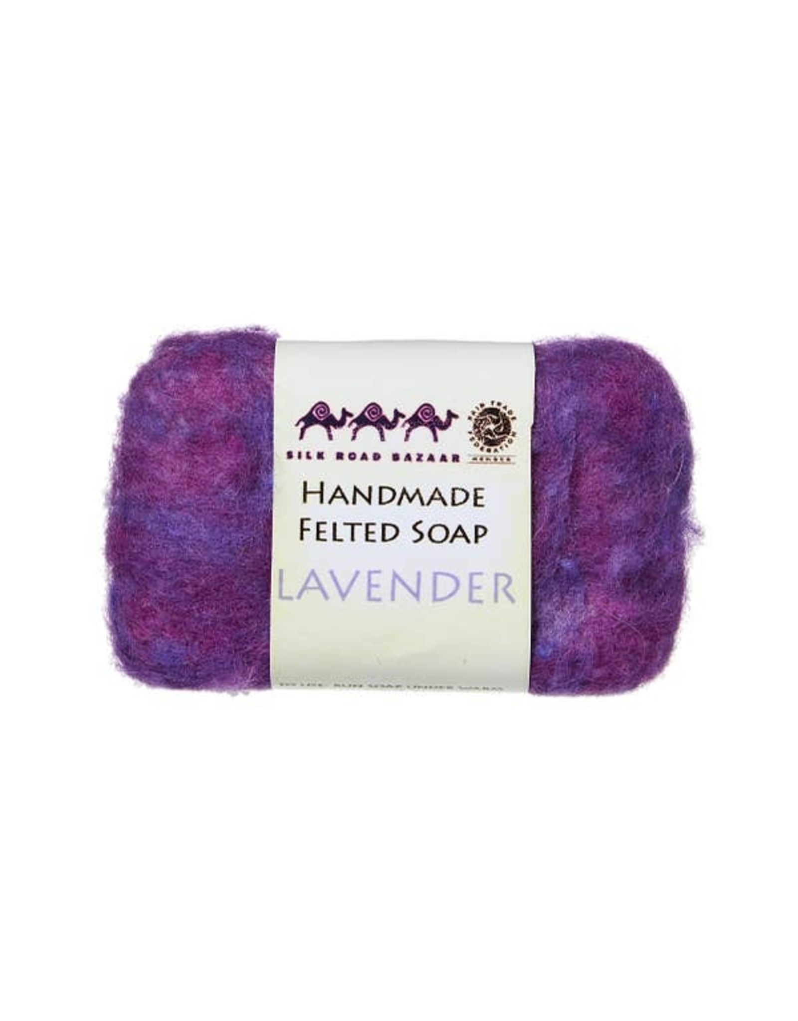 Silk Road Bazaar Lavender Handmade Felted Soap