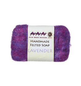 Silk Road Bazaar Lavender Handmade Felted Soap