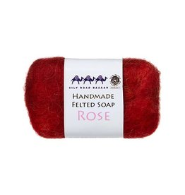Silk Road Bazaar Rose Handmade Felted Soap