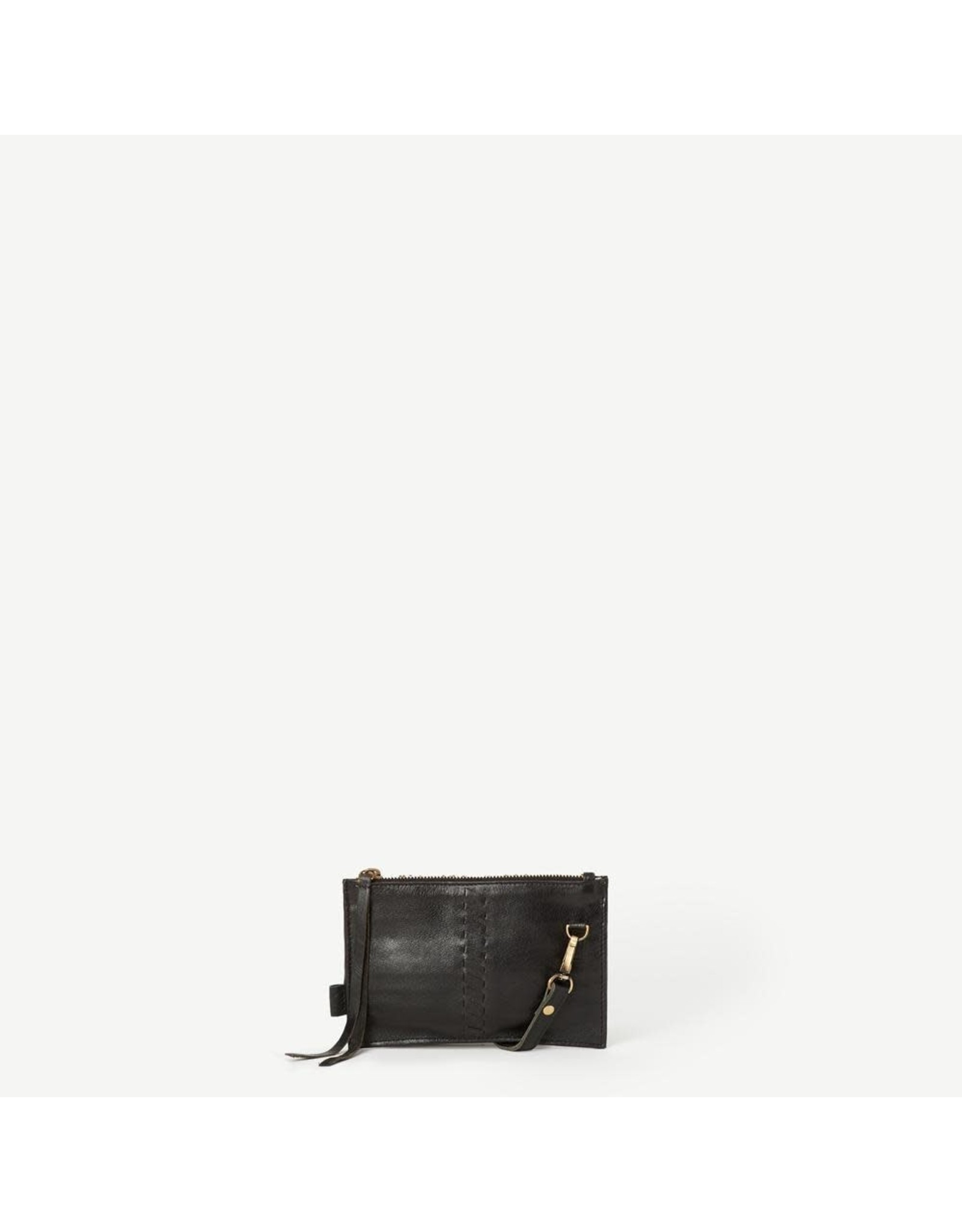 Kyra Black Leather Crossbody Wallet