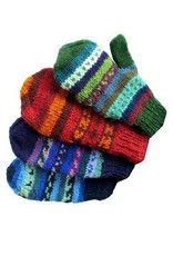 Ganesh Himal Knit Mittens, fleece lined, assorted. Nepal