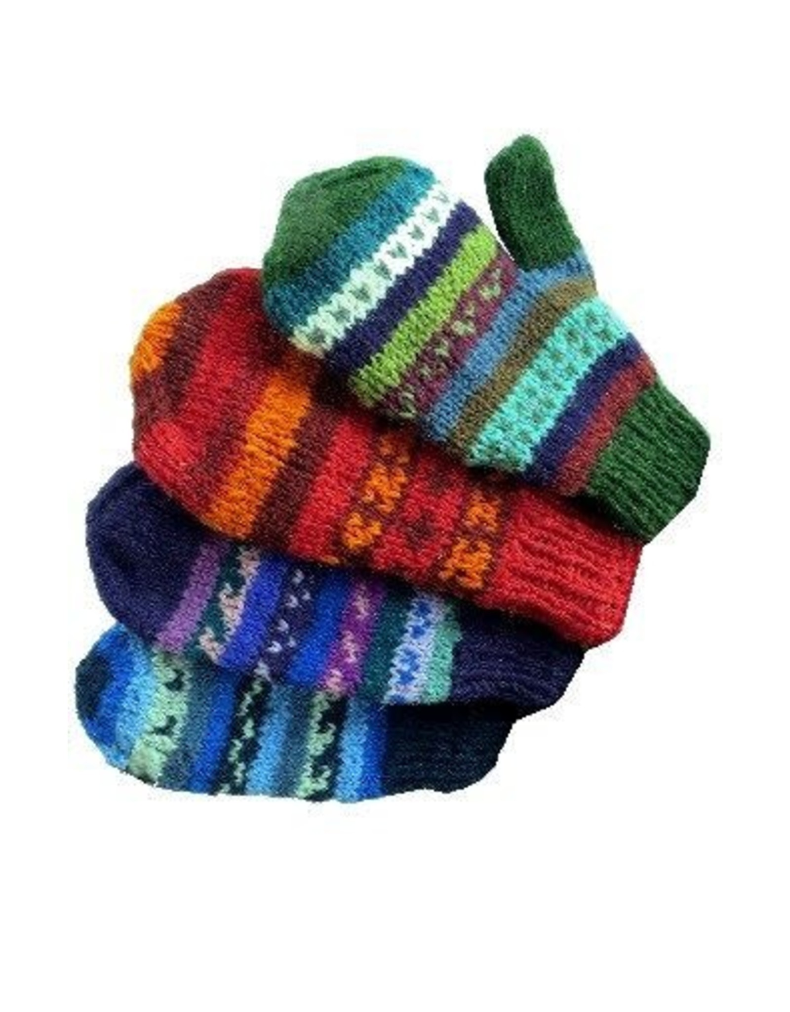 Ganesh Himal Knit Mittens, fleece lined, assorted