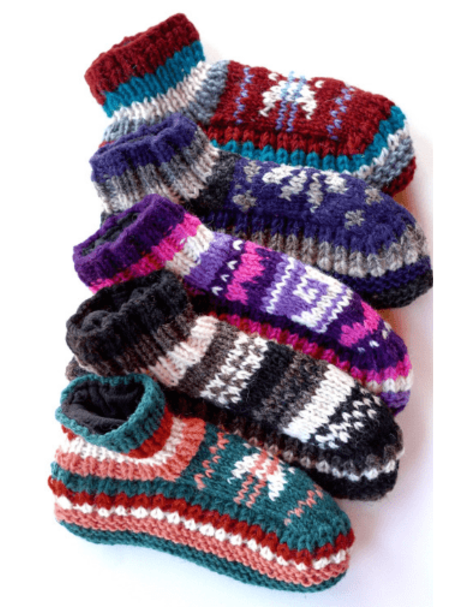 Ganesh Himal Knit Slipper, lined. Assorted.