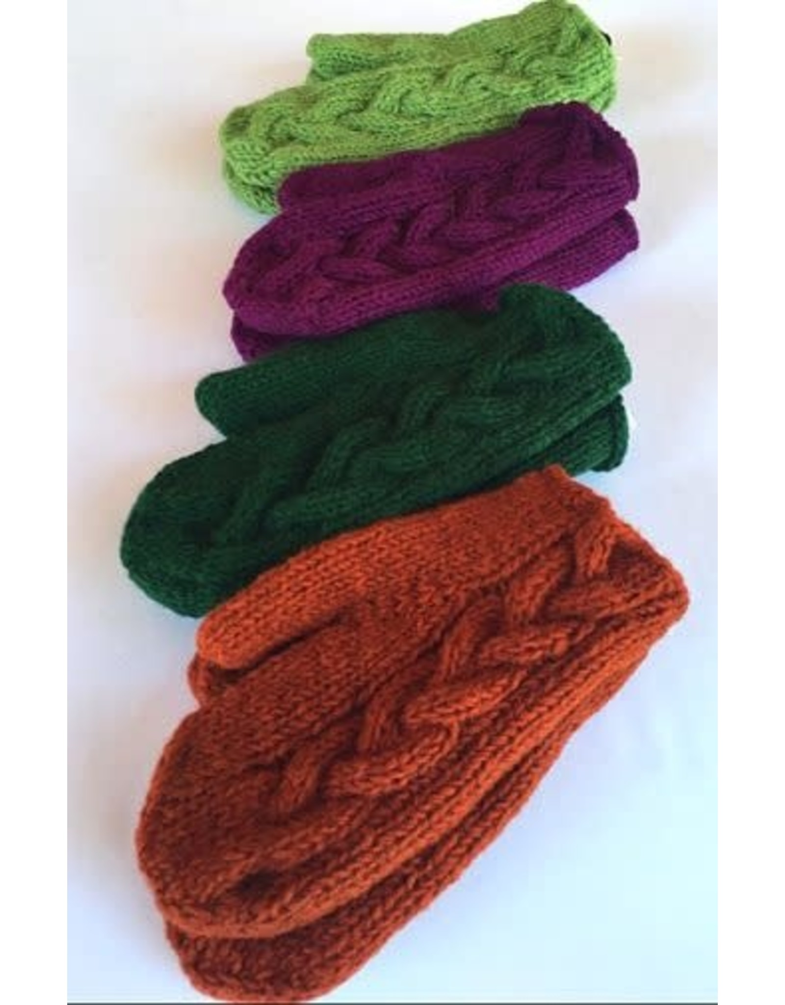 Ganesh Himal Cable knit wool mitten, lined