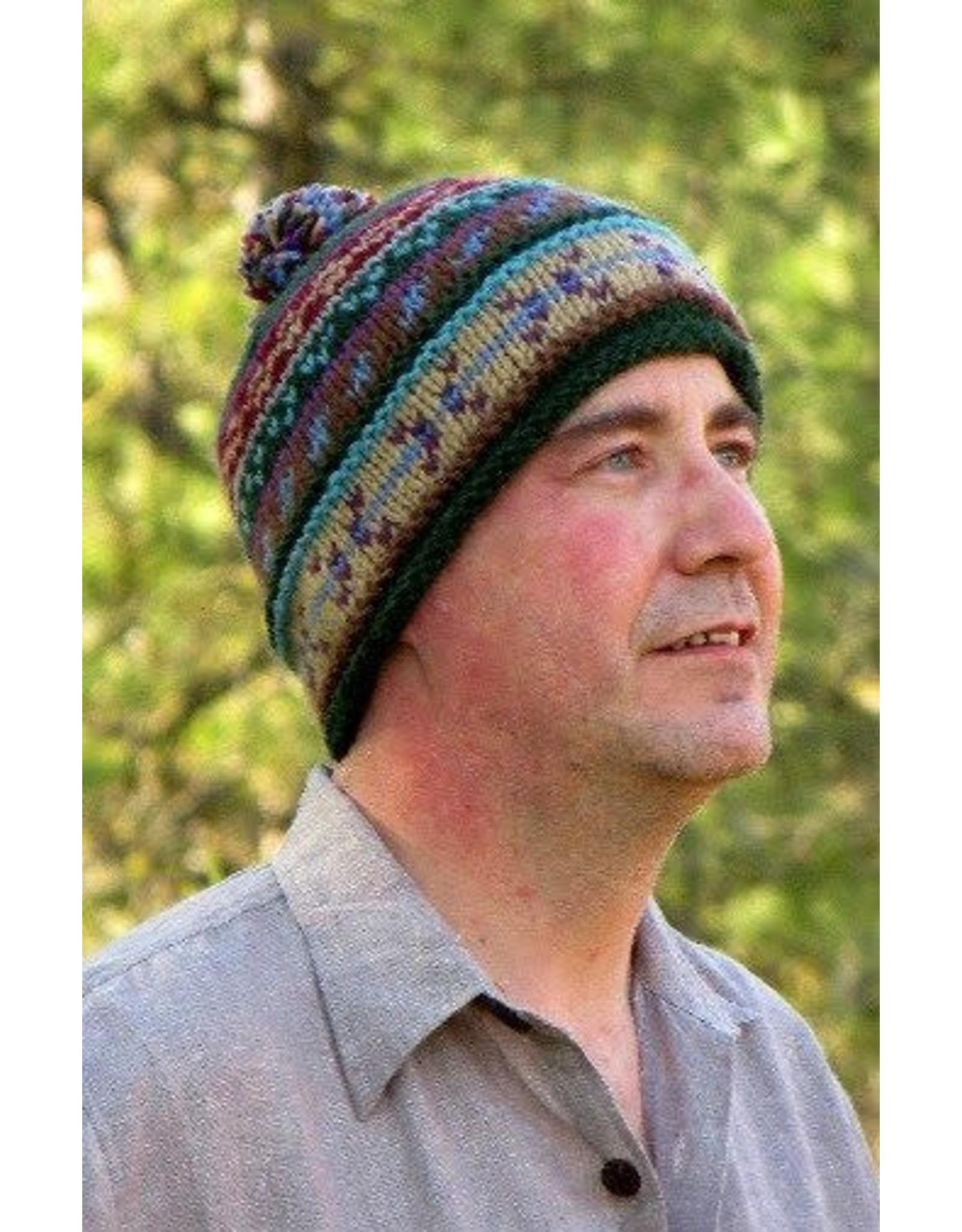 Ganesh Himal Patterned Knit Hat, assorted.