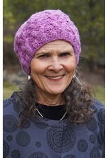 Ganesh Himal Knit wool beret, cable pattern, assorted.