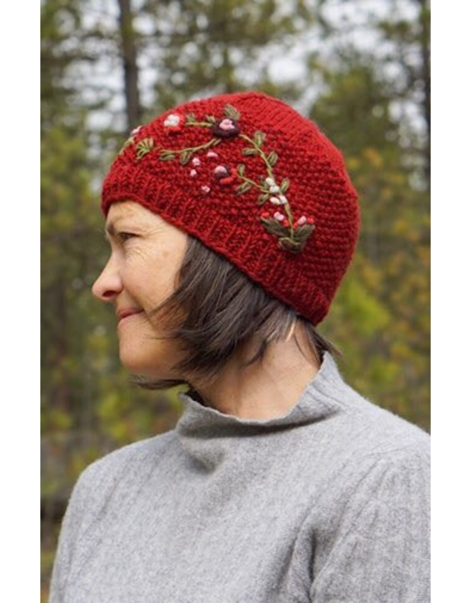Ganesh Himal Knit beanie w/ embroidery. Lined, assorted.