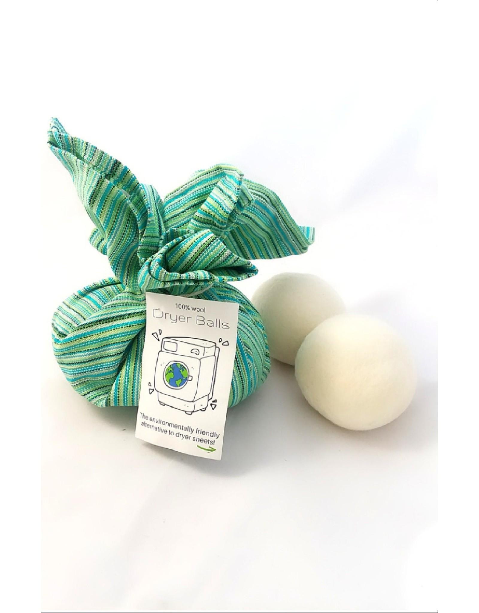 Ganesh Himal Wool Felt Dryer Balls, gift set w/ teatowel
