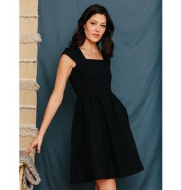 Rupi Square Neck Dress Black