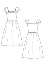 Rupi Square Neck Dress Black