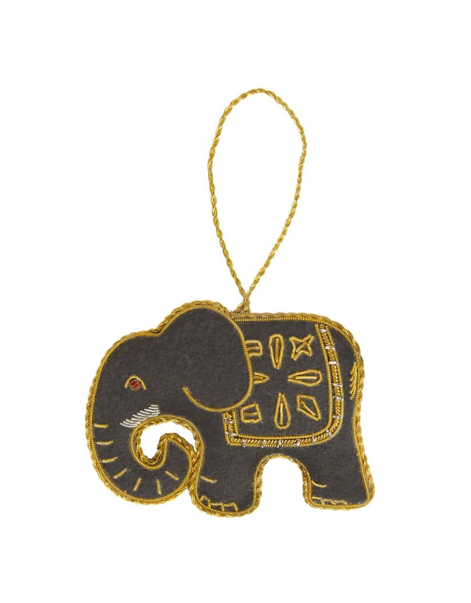 Matr Boomie CLEARANCE  Larissa Plush Elephant Ornament