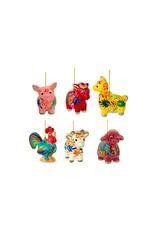 Lucuma Animal Mini Ornaments, assorted.