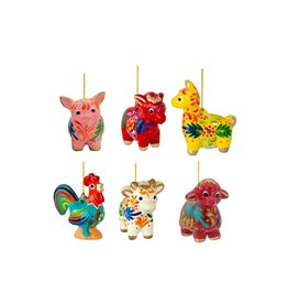 Lucuma Animal Mini Ornaments, assorted.