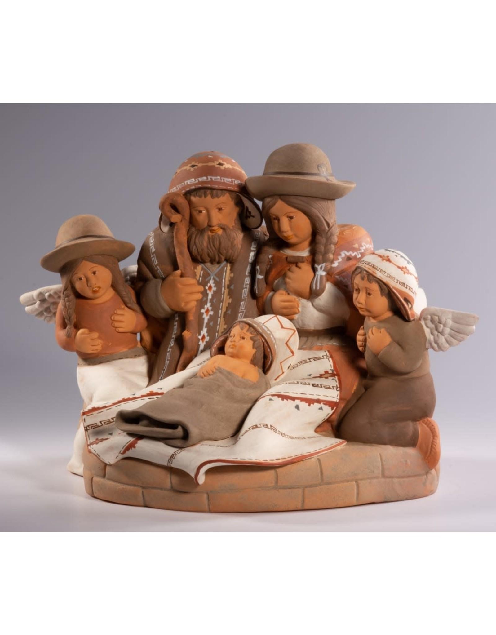Lucuma Holy Family & Angels Nativity, Peru