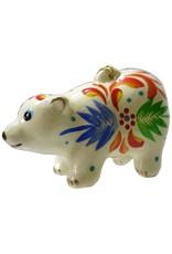 Lucuma Painted Polar Bear Ceramic Ornament