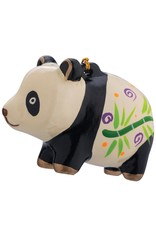 Lucuma Painted Panda Ceramic Ornament