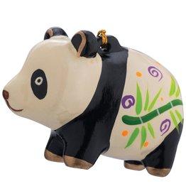 Lucuma Painted Panda Ceramic Ornament