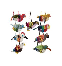Lucuma Knit Bird Ornaments, assorted