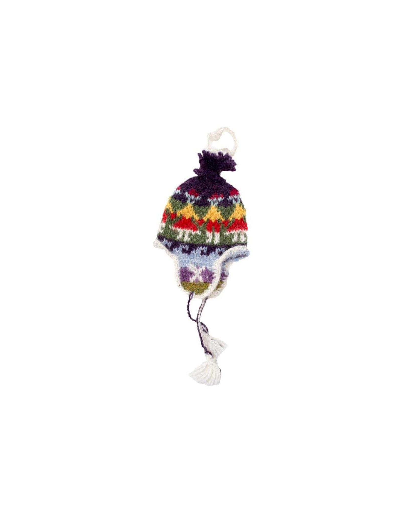 Lucuma Knit Chullo Hat Ornament, assorted
