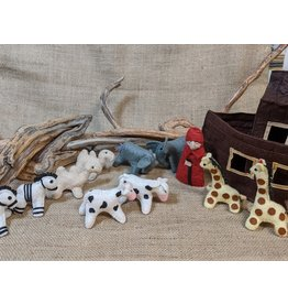 Silk Road Bazaar Felt Noah's Ark Playset