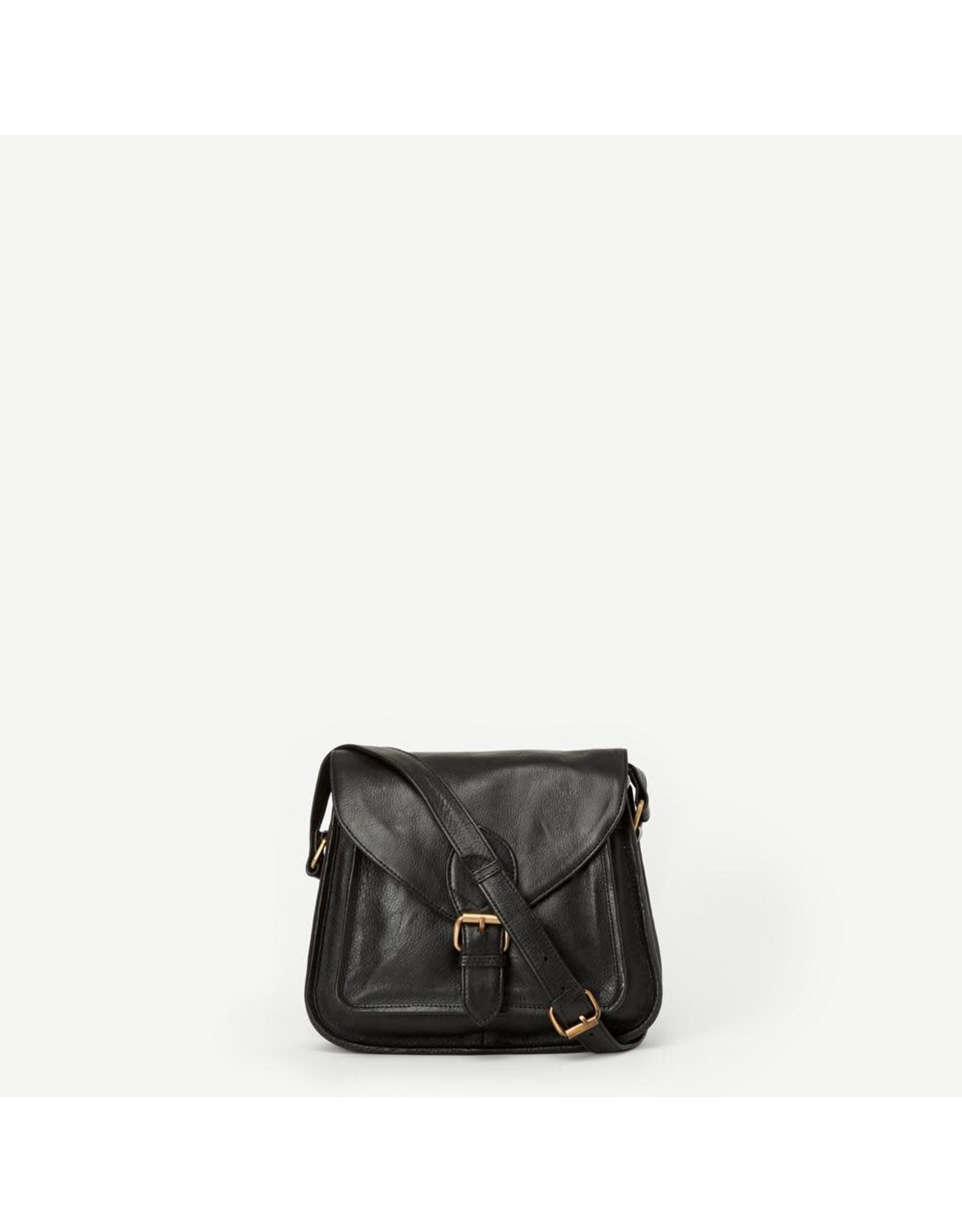 Myra Black Leather Satchel