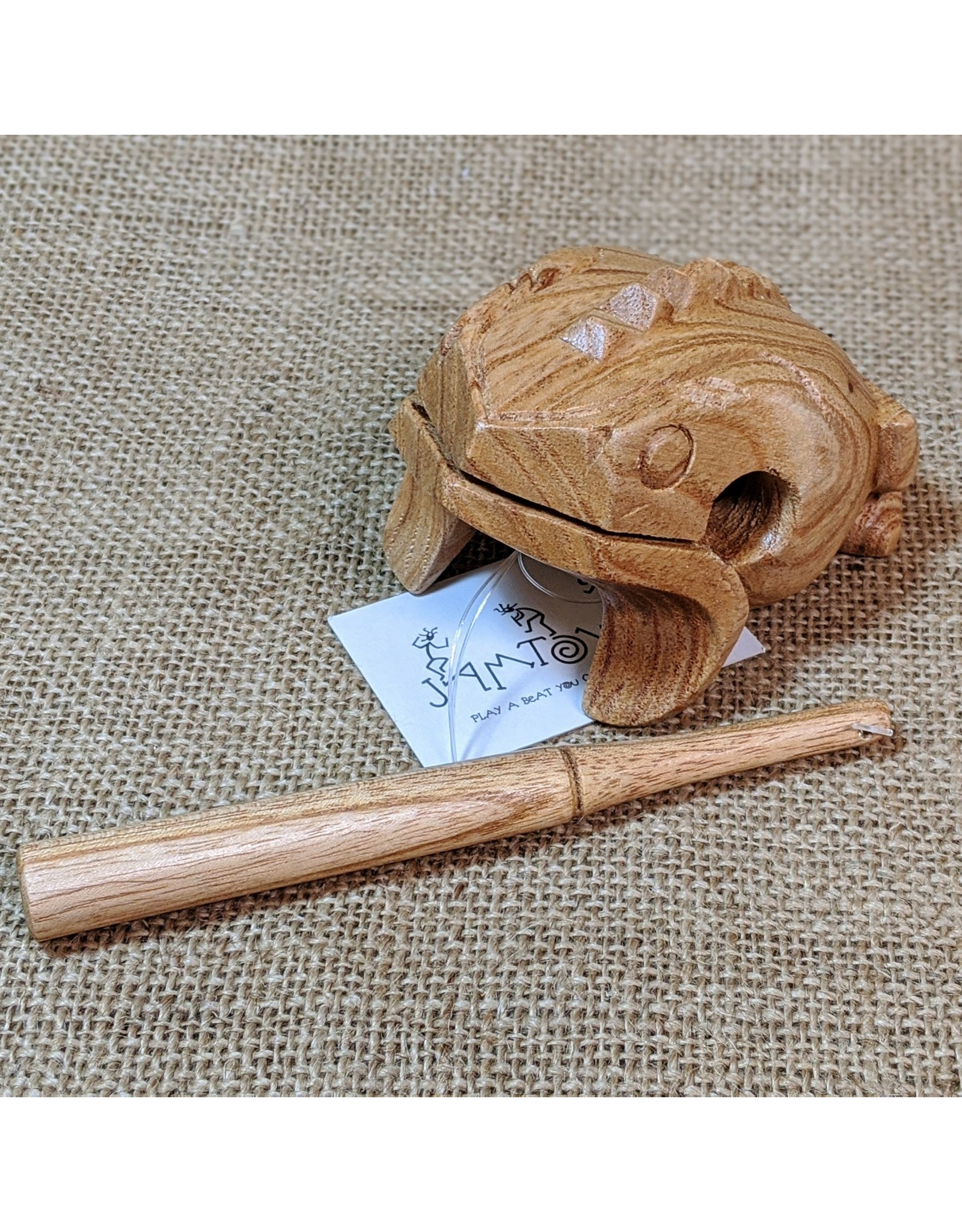 Jamtown Mini Wooden Frog Scraper, Bali