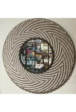 Ten Thousand Villages Mirror Round Woven Natural Cord
