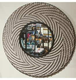 Ten Thousand Villages Mirror Round Woven Natural Cord