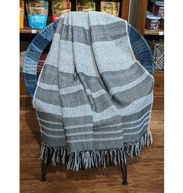 Ten Thousand Villages Storm Cloud Alpaca Fringed Throw