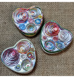 Ten Thousand Villages Recycled Heart Box