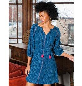 Raglan Tunic Dress Indigo