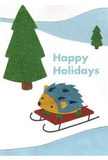 Good Paper Holiday Hedgehogs Card