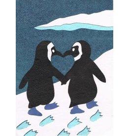Good Paper Penguin Love Card