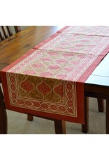 Fair Trade Winds Jaipur Palace Block Print Table Runner 72""