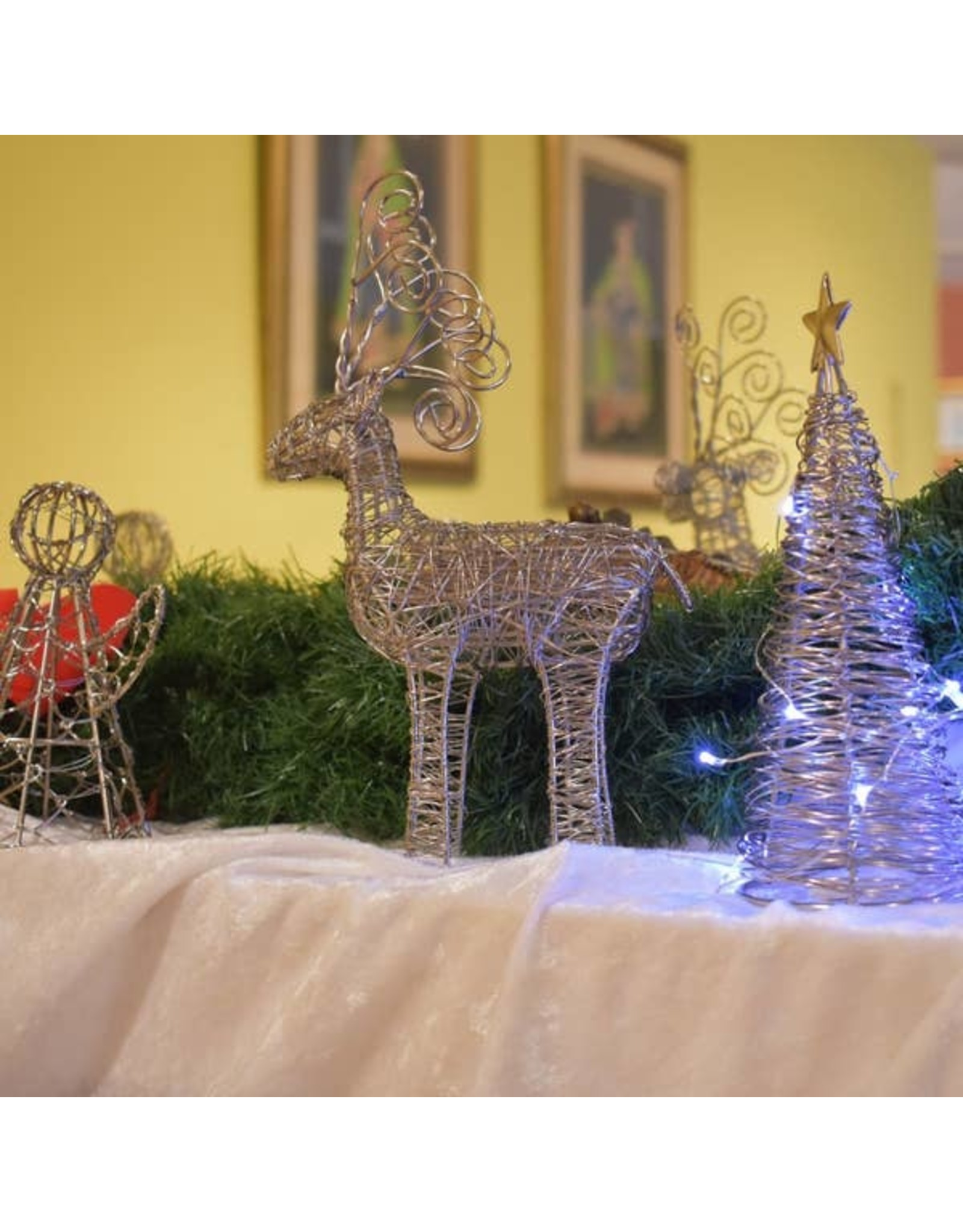 Mira Fair Trade Wrapped Wire Reindeer