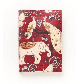 Matr Boomie Fauna Leather Journal- Red Garden