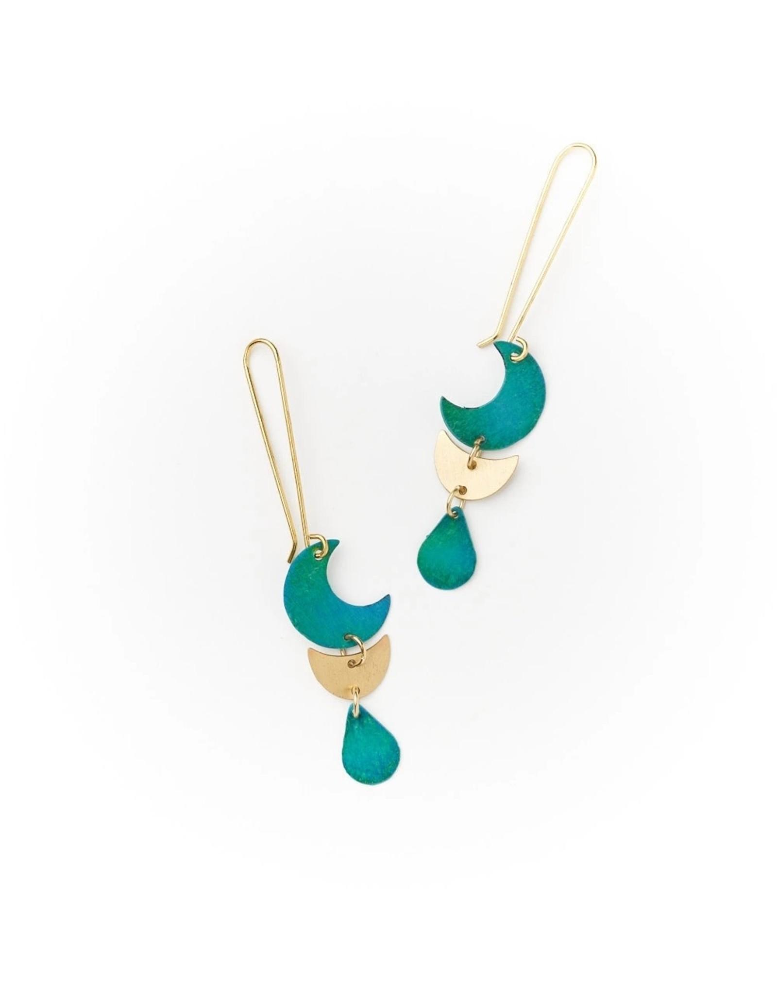 Matr Boomie Rajani earrings- Teal Drop, India