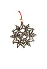 Papillon Cut Metal Snowflake Nativity Ornament