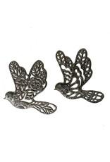 Papillon Cut Metal Dove, assorted, Haiti