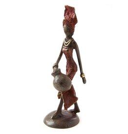 Swahili Wholesale Water Bearer Lost Wax Sculpture, Burkina Faso
