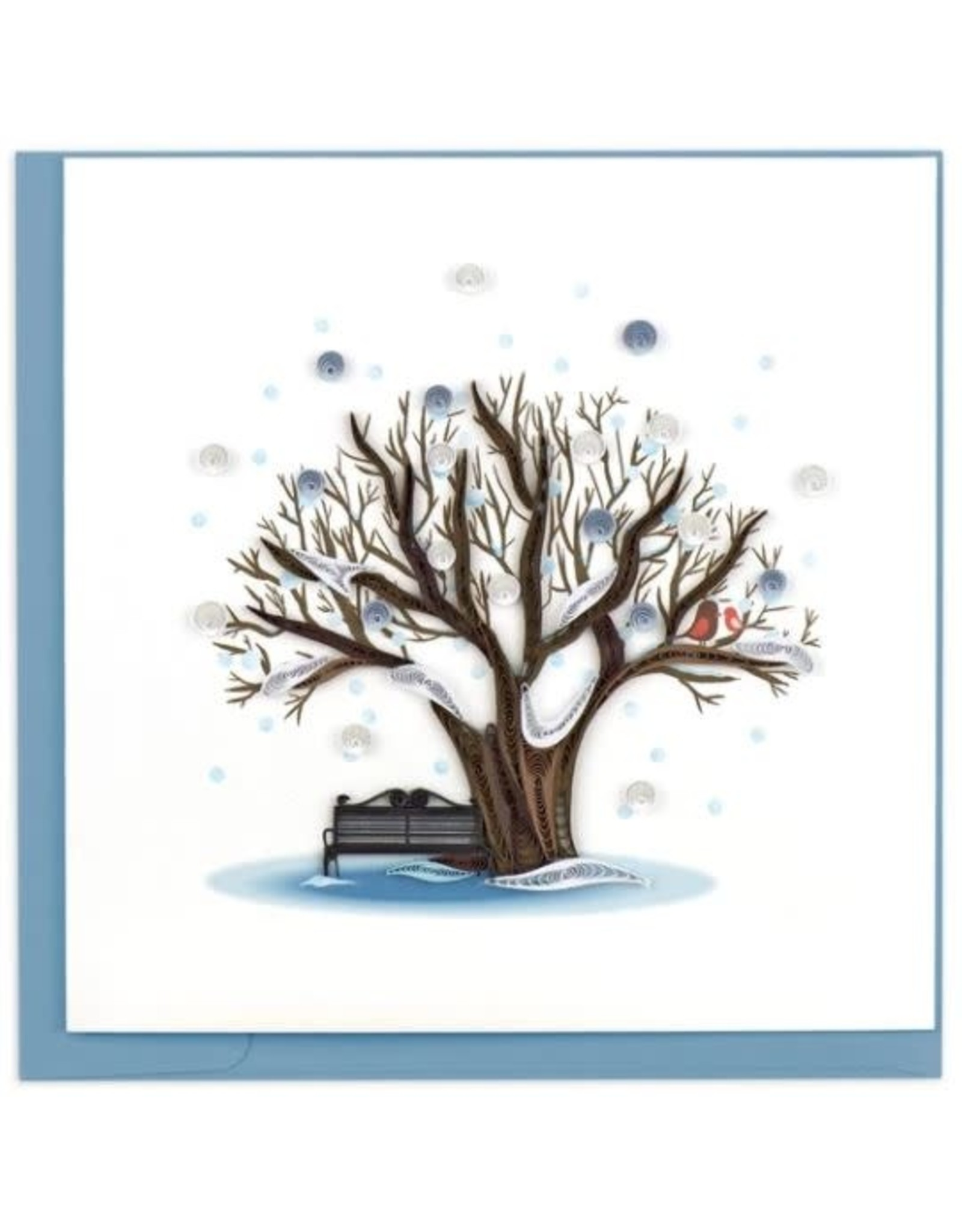 quillingcard Quilled Winter Tree Card