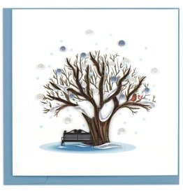 quillingcard Quilled Winter Tree Card, Vietnam