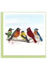 quillingcard Quilled Songbirds Greeting Card