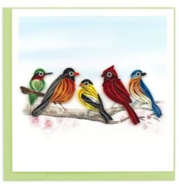 quillingcard Quilled Songbirds Greeting Card, Vietnam