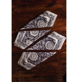 Sevya Kalamkari Napkins, Gray tones, set of 4