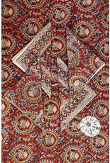 Sevya Kalamkari Tablecloth, Brick & Gold