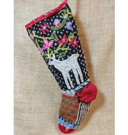 Lost Horizons Knit Christmas Stocking Reindeer