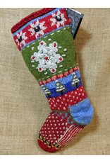 Lost Horizons Knit Christmas Stocking Snowflake